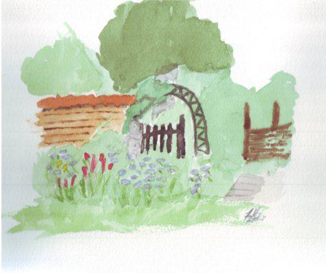 Danish garden painting