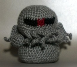 Crocheted Cylon Cthulhu Hybrid