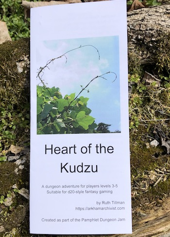 Heart of the Kudzu: a one-page dungeon pamphlet